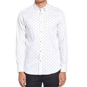 Ted Baker Monico Slim Fit Dot Diamond Button Down